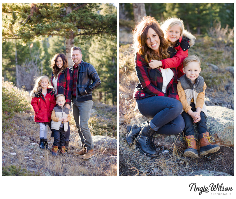 winter family photo session estes park colorado angie wilson
