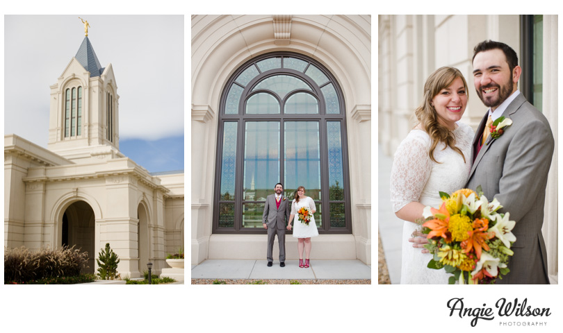 Fort Collins Temple Wedding Lindsey Brendan Angie Wilson Photography