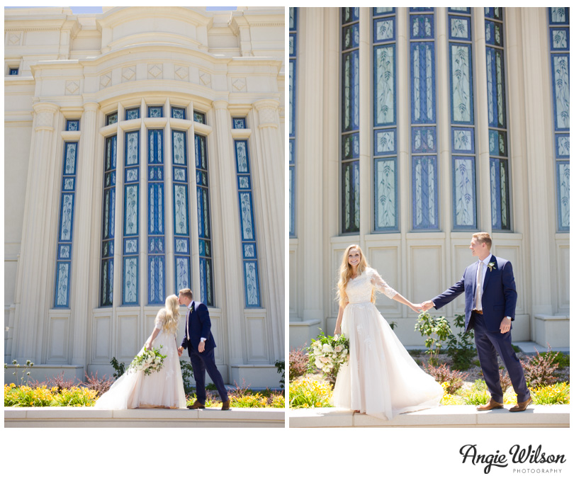 Payson Utah Temple Bride and Groom